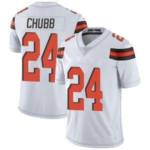 #24 Chubb White Stitched Jersey